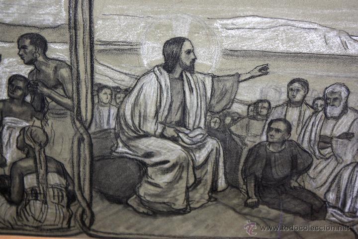Arte: DIONÍS BAIXERAS VERDAGUER (BARCELONA, 1862 - 1943) TÉCNICA MIXTA SOBRE PAPEL. ESCENAS RELIGIOSAS - Foto 19 - 47478198