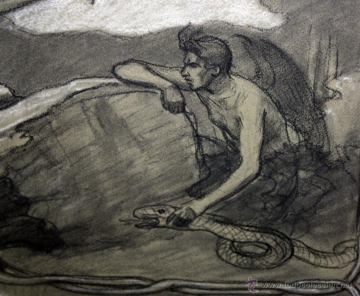 Arte: DIONÍS BAIXERAS VERDAGUER (BARCELONA, 1862 - 1943) TÉCNICA MIXTA SOBRE PAPEL. ESCENAS RELIGIOSAS - Foto 20 - 47478198