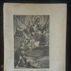 Arte: 25,5 X 18 CM , ANTIGUO GRABADO RELIGIOSO DE LA VIRGEN . Lote 47636875
