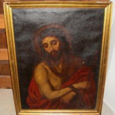 Arte: ANTIGUO OLEO SOBRE LIENZO. ECCE HOMO. FIRMADO: ANTONIA RODRIGUEZ Y ALBA - 1858. Lote 47682894