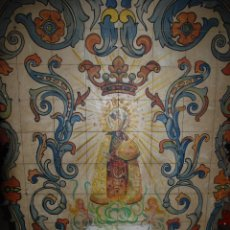 Arte: ANTIGUO MOSAICO DE LA VIRGEN DE LOS DESAMPARADOS PINTADO SOBRE TABLILLA. Lote 47702079