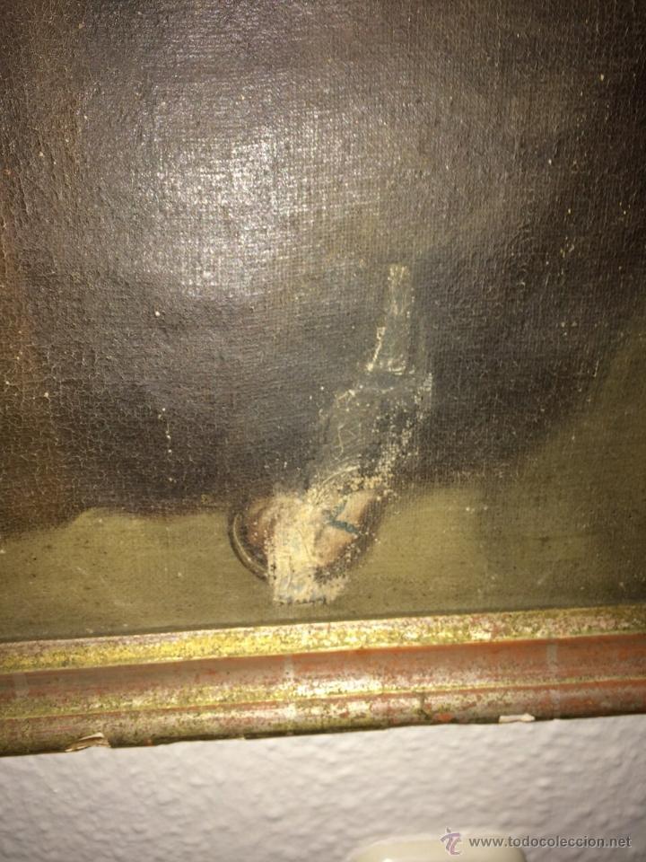Arte: gran óleo religioso. san José con niño s.xviii - Foto 4 - 47719019