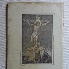 Arte: P. ALABERN ANTIGUO GRABADO DE CRISTO CON MARIA MAGDALENA PAPEL DURO 14 X 9 CM. Lote 47766858