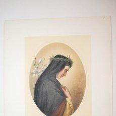 Arte: SANTA CATALINA DE SENA. SAINTE CATHERINE DE SIENNE.. Lote 47783840