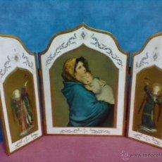 Arte: VIRGEN CON NIÑO TRIPTICO RELIGIOSO. Lote 47816202