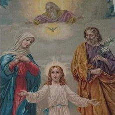 Arte: SAN JOSE,MARIA Y JESUS,DIOS DESDE EL CIELO. Lote 47897577