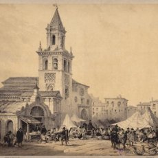 Arte: GRABADO DE LA IGLESIA DE LA FERIA DE SEVILLA. Lote 47903988