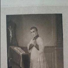 Arte: S.LOUS DE GONZAGUE-FIRMA DEL PINTOR -LUIGI CROSIO PINX-PROPIETE ARTISTIQUE. Lote 47914197