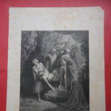 Arte: GRABADO. ENTIERRO DE CRISTO. DORÉ (39,5 X 27,5 CM. DIBUJO 24,5 X 19,5 CM). Lote 48122472