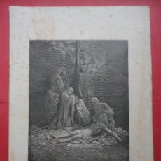 Arte: GRABADO. CRISTO DESCENDIDO DE LA CRUZ. DORÉ (39,5 X 28 CM. DIBUJO 24 X 19,5 CM). Lote 48123000