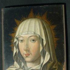 Arte: ÓLEO SOBRE TABLA. BUSTO DE LA VIRGEN MARÍA. 34 X 28 CM. ESCUELA FLAMENCA. SIGLOS XV-XVI.. Lote 48221032