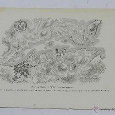 Arte: ANTIGUA LAMINA LITOGRAFIA DEL PLANO DE MAHON AL TIEMPO DE SU RECONQUISTA, MIDE 24,5 X 16 CMS.. Lote 48228569