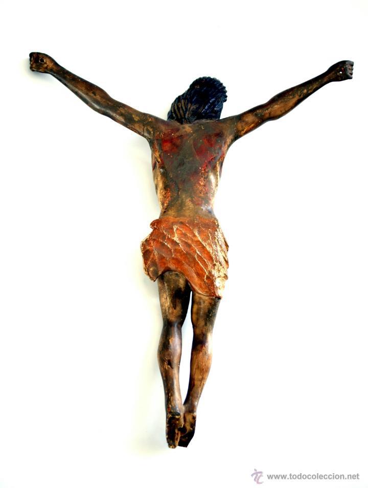 Arte: CRISTO - TALLA EN MADERA POLICROMADA - ESCUELA CASTELLANA - S. XVII - Foto 7 - 48282265