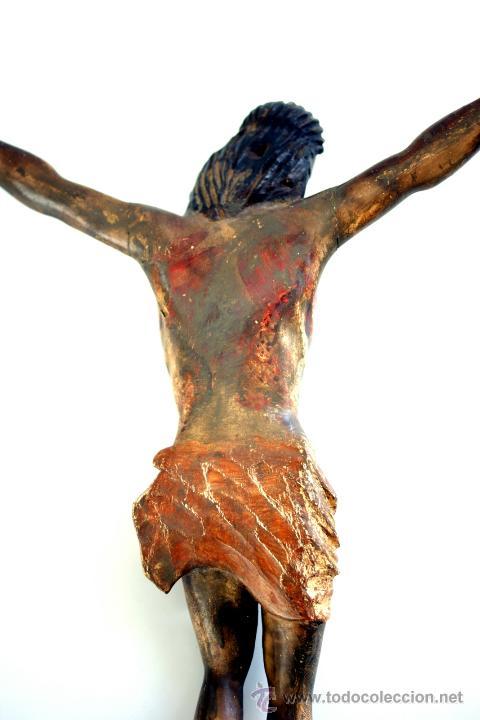 Arte: CRISTO - TALLA EN MADERA POLICROMADA - ESCUELA CASTELLANA - S. XVII - Foto 9 - 48282265