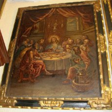 Arte: OLEO SOBRE LIENZO. S.XIX. SANTA CENA (120 CM X 100 CM). Lote 48312843