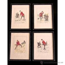 Arte: GOLF. EDMUND G. FULLER GRABADOS CIRCA 1900/1910.. Lote 48365066