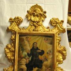 Arte: PINTURA AL OLEO SOBRE CRISTAL DEL SIGLO XVIII. POSIBLEMENTE SAN FELIPE BENICIO.. Lote 48438130