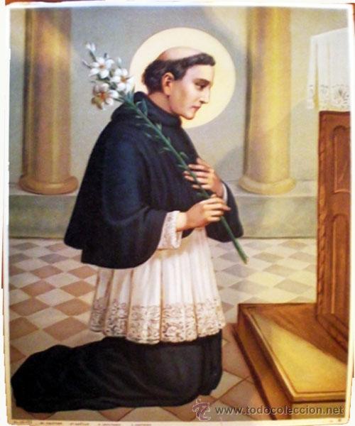 FINALES S.XIX.- LITOGRAFIA ANTIGUA ALEMANA EN PAPEL-TELA Y COLOR DE- SAN CAYETANO- 33 X 43 CM. (Arte - Arte Religioso - Litografías)