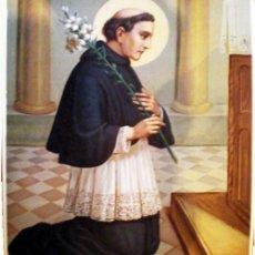 Arte: FINALES S.XIX.- LITOGRAFIA ANTIGUA ALEMANA EN PAPEL-TELA Y COLOR DE- SAN CAYETANO- 33 X 43 CM.. Lote 172749035