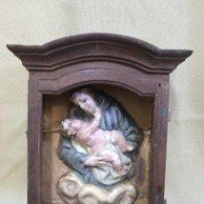 Arte: CAPILLA SAN ANTONIO DE PASTA DE PAPEL CON OJOS DE CRISTAL SIGLO XVIII. Lote 48478680