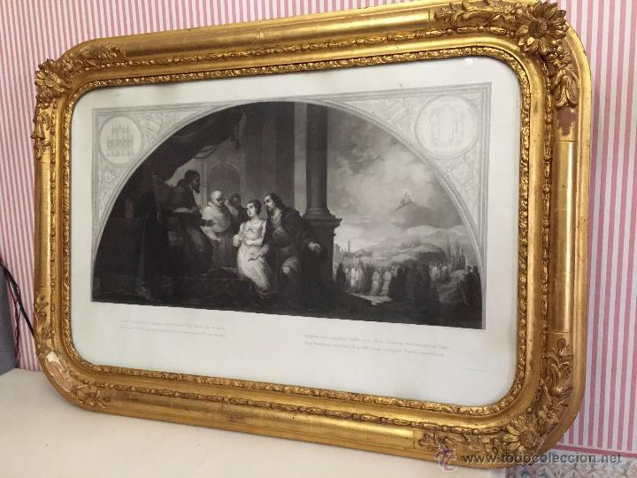 Arte: PAREJA DE GRABADOS D.MARTINEZ, DE CUADROS DE MURILLO ENMARCADAS. 1858. - Foto 10 - 48487874