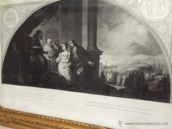 Arte: PAREJA DE GRABADOS D.MARTINEZ, DE CUADROS DE MURILLO ENMARCADAS. 1858. - Foto 11 - 48487874
