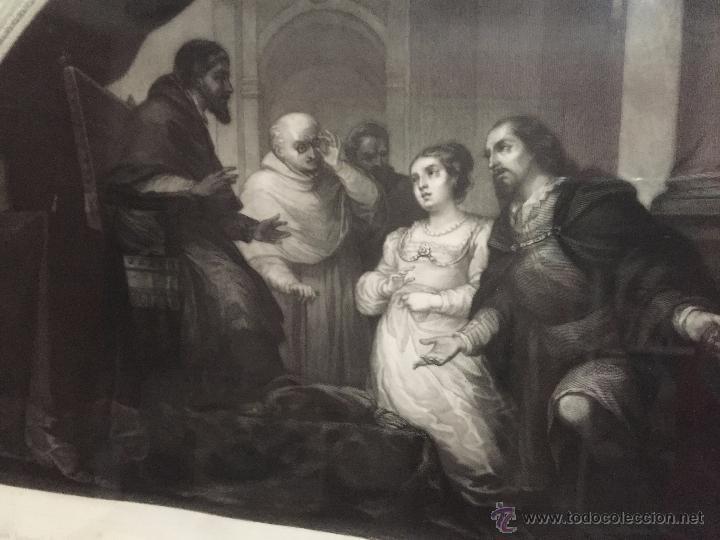 Arte: PAREJA DE GRABADOS D.MARTINEZ, DE CUADROS DE MURILLO ENMARCADAS. 1858. - Foto 12 - 48487874