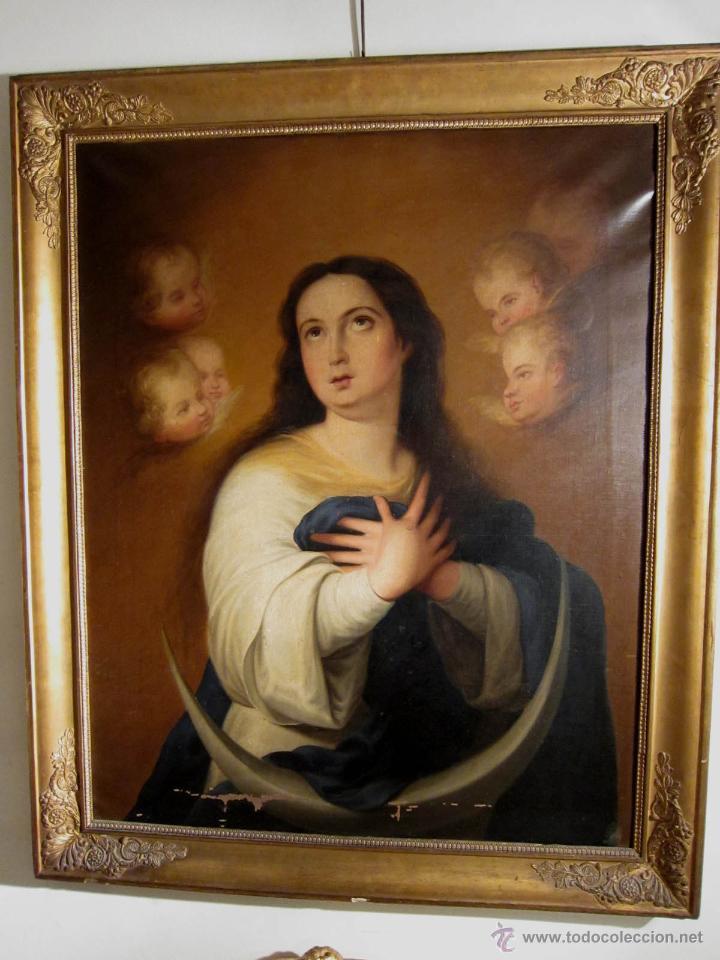inmaculada murillo óleo sobre lienzo siglo xix - Comprar Pintura ...