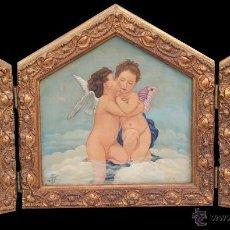 Arte: AMORCILLOS TRIPTICO. Lote 48531755