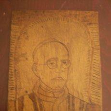 Arte: PIO XII GRABADO SOBRE MADERA FIRMADO ANGEL GARCIA MARTIN. Lote 48596235