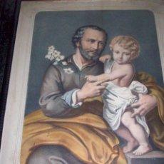 Arte: LITOGRAFÍA SIGLO XIX. SAN JOSÉ CON EL NIÑO. Lote 48683053