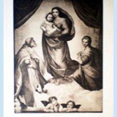 Arte: GRAN GRABADO A L A MADERA DE LA OBRA DE RAPHAEL DE LA CAPILLA - SIXTINA - RESEÑADO.. Lote 48705127