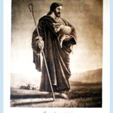 Arte: GRAN GRABADO A L A MADERA DE LA OBRA DE- EL BUEN PASTOR - PLIEGO ENTERO 60 X 80 CM... Lote 48708521
