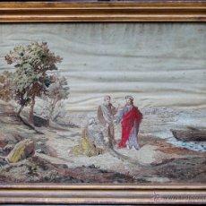 Arte: BORDADO SIGLO XIX, ENMARCADO CON CRISTAL 98X76 CM.. Lote 48732034