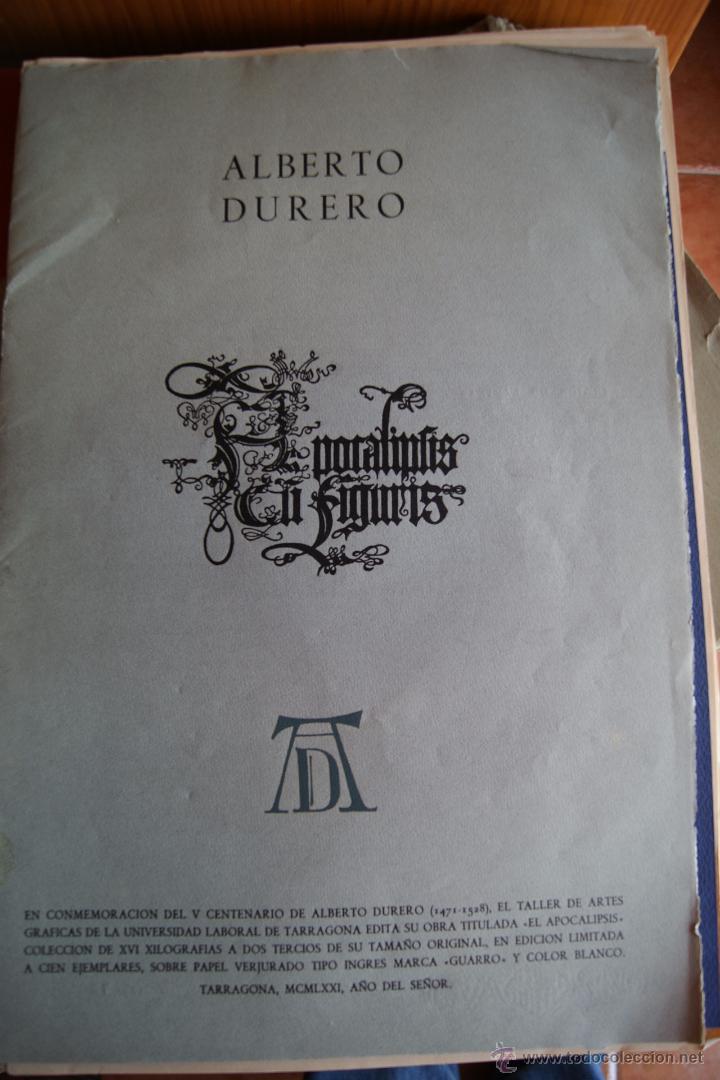 ALBERTO DURERO EL APOCALIPSIS 1971 FACSIMIL (Arte - Arte Religioso - Grabados)