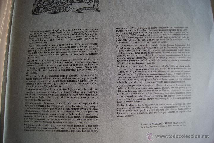 Arte: ALBERTO DURERO EL APOCALIPSIS 1971 FACSIMIL - Foto 9 - 48772570