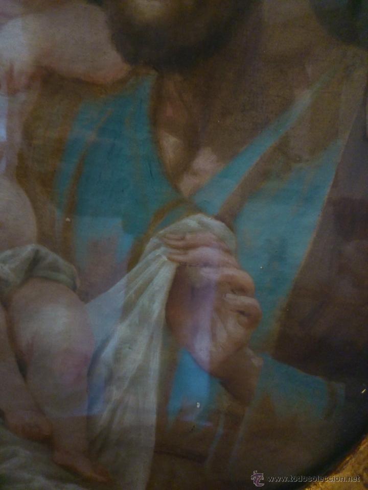 Arte: * PIEZA DEL SIGLO XVIII.OLEO DE SAN JOSE Y EL NIÑO - Foto 6 - 48833581