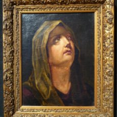 Arte: LA DOLOROSA. ÓLEO SOBRE LIENZO. SIGLOS XVII-XVIII. MIDE 39 X 30 CM.. Lote 48858808