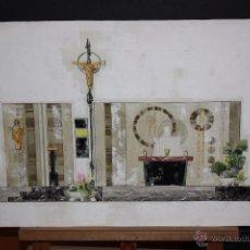 Arte: DE CASAS. TECNICA MIXTA SOBRE PAPEL. RELIGIOSO. Lote 48862607
