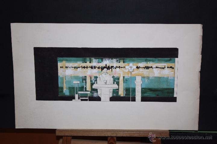 DE CASAS. TECNICA MIXTA SOBRE PAPEL. RELIGIOSO (Arte - Arte Religioso - Pintura Religiosa - Otros)