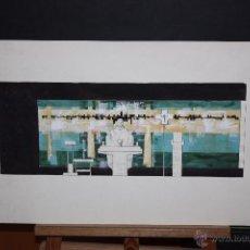 Arte: DE CASAS. TECNICA MIXTA SOBRE PAPEL. RELIGIOSO. Lote 48862681
