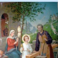 Arte: FINALES S.XIX.-1897. SUPER GRAN LITOGRAFIA EN PAPEL FUERTE DE - LA SAGRADA FAMILIA - 55 X 74,5 CM.. Lote 48874415