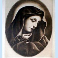 Arte: GRAN GRABADO A LA MADERA DE LA OBRA DE KARLO DOLCI - MATER DOLOROSA - PLIEGO ENTERO 60 X 80 CM... Lote 48934216
