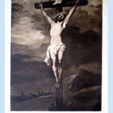 Arte: GRAN GRABADO A L A MADERA DE LA OBRA DE - CRISTO CRUCIFICADO - PLIEGO ENTERO 60 X 80 CM... Lote 48934737