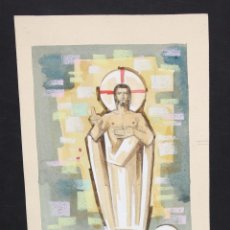 Arte: ANONIMO. TECNICA MIXTA SOBRE CARTULINA. TEMA RELIGIOSO. Lote 48990452