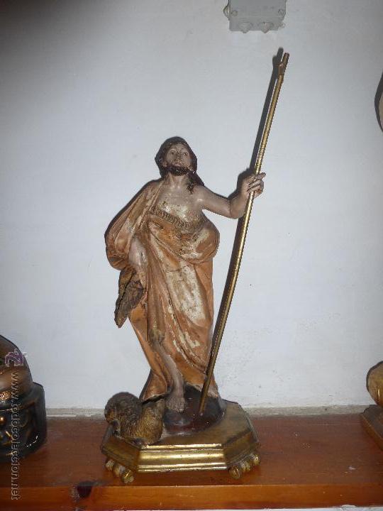 majestuosa gran escultura talla en madera polic - Comprar Escultura ...