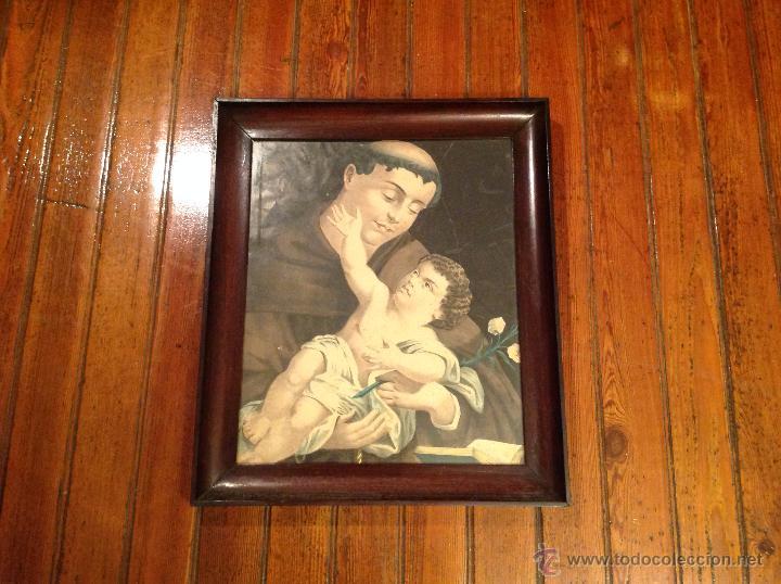 ANTIGUA LAMINA RELIGIOSA CON MARCO (Arte - Arte Religioso - Litografías)