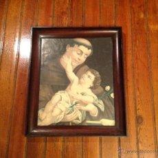 Arte: ANTIGUA LAMINA RELIGIOSA CON MARCO. Lote 49075253