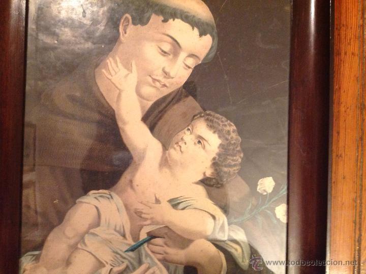Arte: ANTIGUA LAMINA RELIGIOSA CON MARCO - Foto 2 - 49075253