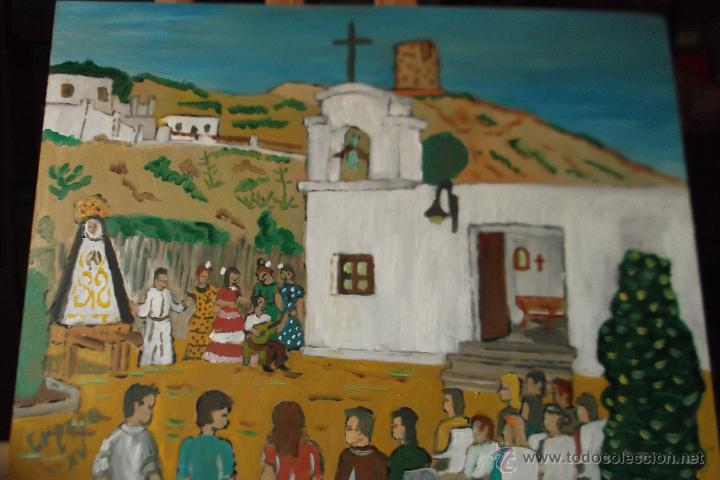 LA VIRGEN DE LOS DOLORES EN GUAINOS -ADRA DE CRESPO (Arte - Arte Religioso - Pintura Religiosa - Oleo)